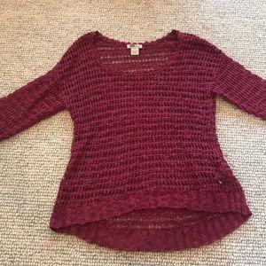Lucky Maroon Sweater